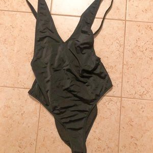 Missguided black one piece swimsuit